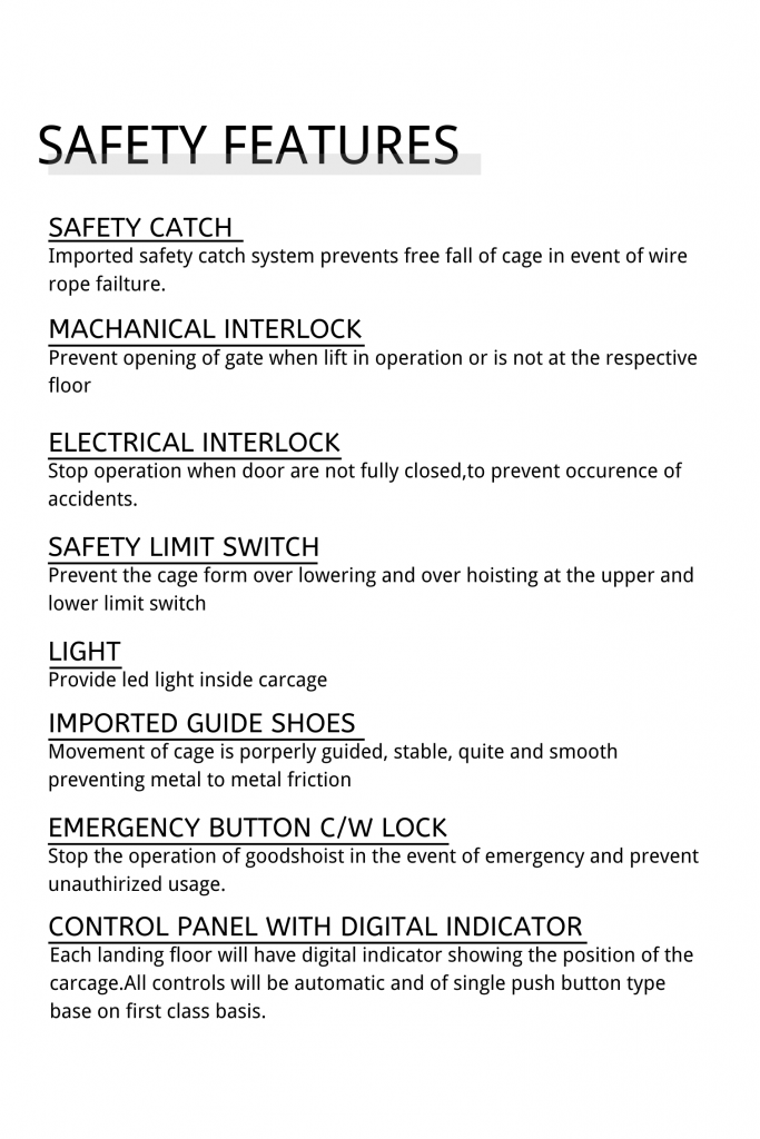 SAFETY FEATURES (1)